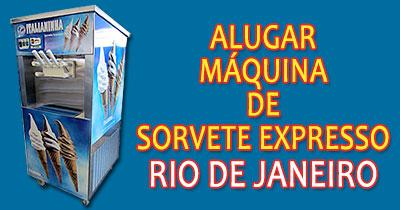 Aluguel máquina de sorvete expresso RJ