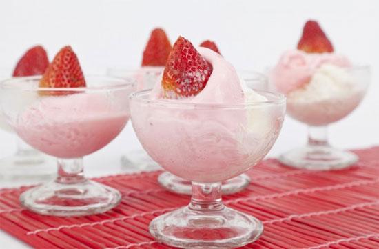 Como fazer sorvete de iogurte