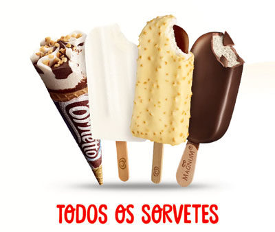 Revender sorvetes Kibon: tabela de produtos